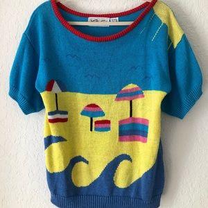 Vintage beach themed sweater
